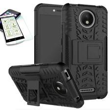 Hibrido Funda Estuche 2 piezas negro para Motorola Moto C Plus + H9