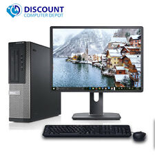 "Clearance!!! Fast Dell Desktop Computer PC Core i3 3.1GHz Windows 10 w/19"" LCD"