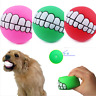 Funny Pet Dog Ball Teeth Silicon Toy Chew Sound Dogs Play Game Toys