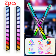 2Stk Auto Stimmenaktivierte LED Tonabnehmer Rhythmus Licht RGB Musik Level Lampe