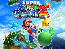"Nintendo Wii U Mario Galaxy 2 Photo Poster 8.5"" x 11"" Game Room Mancave #5"