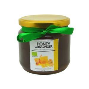 Raw Organic Wildflower Blossom Honey with Ginger 500 g