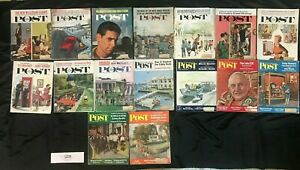 Saturday Evening Post, 16 Issue Lot from 1962! Great Covers. Sugar Ray Kennedy