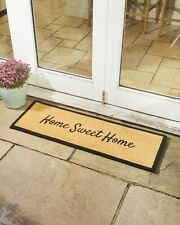 Large Home Sweet Home Coir Patio Door Mat for Indoor and Outdoor Use 40x120cm