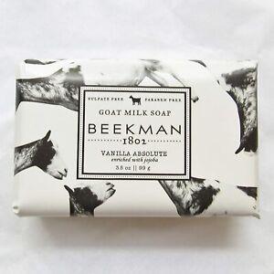NEW & SEALED Beekman 1802 Goat Milk Soap Vanilla Absolute 3.5 oz Bar