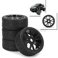 4Pcs 17mm Hub Wheel Rim Tires Tyre 1:8 Off-Road RC Remote Control Car Buggy HSP