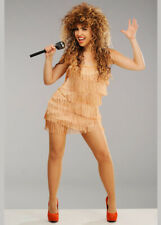 Womens 80s Fringed Tina Turner Style Costume DRESS ONLY