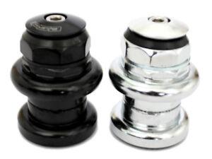 "FSA TH-1150W 1"" Inch Threaded Traditional Chrome Headset  26.4mm Black, Silver"