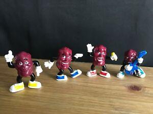 "2001 Complete Set of 4 Hardee's ""California DANCIN' RAISINS"" LOOSE Toy Figures"