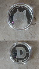 Physical Dogecoin Doge .999 Fine Silver Coin 1 oz Shibe Mint 2014 Cryptocurrency