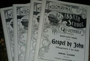 Pioneer Sabbath School Quarterlies~4 Books~Seventh-day Adventist~Gospel of John