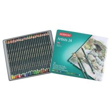 Derwent Artists Pencils Tin of 24 With Bonus Adult Therapy Colouring Book 2