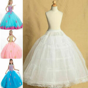 5-15 Blumenmädchen Kleid Unterrock 4-hoop A-Linie Reifrock Petticoat Kinder L1