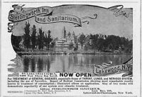 STERLINGWORTH INN AND SANITARIUM LAKEWOOD NEW YORK ON LAKE CHAUTAUQUA TREATMENT