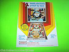 Stern PINBALL The 1st Electronic Pinball Machine  NOS Promo Sales Adv Flyer 1977