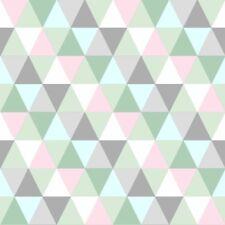 Everybody Bonjour 128706 Vlies Kinder Tapete Dreieck Grafik mint grün blau rosa