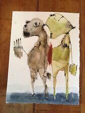 OOAK Pen Ink Watercolor Museum Named Artist Ann St John Hawley, TAOS Value $1200