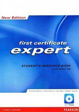 Longman primera certificado Fce experto Estudiante Libro de recursos + Audio Cd ninguna clave @NEW
