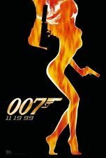 Original WORLD IS NOT ENOUGH 2 sided D/S Advance James Bond 1 Sheet