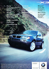 2004 BMW X3 - ear popping -  Classic Vintage Advertisement Ad D16