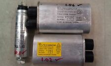 8s66 ASSORTED CAPACITORS: 2100V/1.05/1.06MF, 2100V/0.98/1.02MF, 280V/10/10.1MF