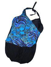 SHORE SHAPES Slimming  Swim suit Womens Swimsuit  22W  22 W  blue black