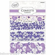 Lilac bague diamant mariage fiançailles confettis table sprinkle triple pack