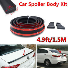 1.5M Black Universal Car Trunk Tail Spoiler Rear Trunk Trim Lip Spoiler Wing Kit