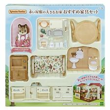 Sylvanian Families room set big red house recommended furniture set of roof F/S