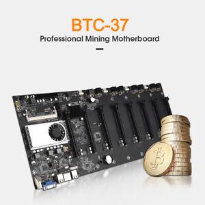 BTC-37 Miner motherboard, set of 8 video card slots, DDR3 memory, onboard VGA ON