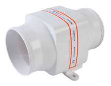 "SEAFLO 4"" 12V 270CFM White In-Line Marine Bilge Air Blower"