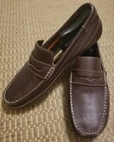 Varese Pryor Brown Pebbled Leather Driving Loafer Mens Size 11M 11 M (0-6