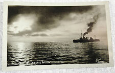 RPPC Real Picture Postcard PEACEFUL NIGHT ON THE PACIFIC Undivided Bunnell  AZO