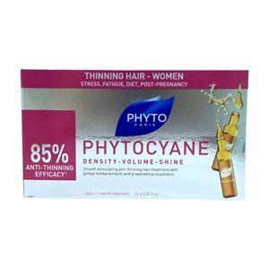 PHYTO PHYTOCYANE Revitalizing Serum 12 Ampoules 0.25 Oz