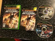 2 x ORIGINAL PAL XBOX GAMES STAR WARS BATTLEFRONT I / 1 & II / 2