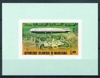 451152) Mauretanien Block mit Nr. 543 B **, Zeppelin
