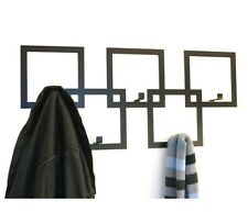 Contempory Squares Designer Coat Rack in Black By The Metal House