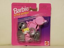 Barbie Mattel Little Extras Kitchenware Pots Pans Etc New In Pkg
