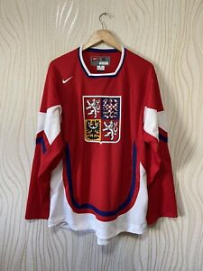CZECH REPUBLIC ICE HOCKEY SHIRT JERSEY NIKE RED sz L