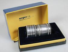 TELE-SANDMAR 100MM F4.5 W/ HOOD IN ORIG. BOX FOR ARGUS C3
