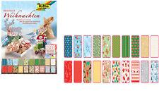folia 47249 Motivblock 20 Blatt 24 X 34 Cm Motivkarton Tonkarton Weihnachten