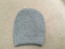 MAISON MARGIELA MM6 Grey wool alpaca acrylic ribbed trim beanie unisex size M