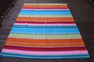 Pottery Barn Teen Pura Vida Colorful Stripe Heavy Cotton Twin Duvet Cover