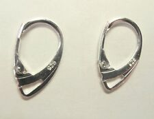 Lot of 4 pcs 925 Sterling Silver Lever Back Earring Findings Wholesale