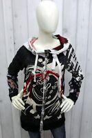 DESIGUAL Donna Taglia M Felpa Maglione Cotone Sweater Pullover Maglietta Maglia