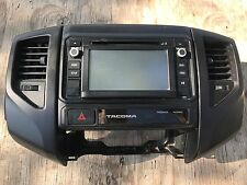 2014-15 TOYOTA Tacoma OEM Stereo AM FM SAT Radio CD Player 510078 with BEZEL