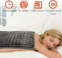 """24"""" x 20"""" Electric Heating Pad Ultra Wide Pain Relief For Shoulders Neck Legs"""