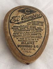 Vintage Cardboard El Vampiro Swat That Fly Bed Bugs Lice Fleas CockRoach Powder