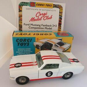 BOXED MINT Corgi 325 Ford Mustang 1965 - 1970 Corgi Re-issue