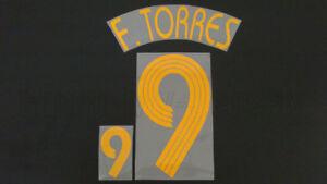 FERNANDO TORRES #9 Spain Home World Cup 2006 Name Set